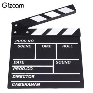 Director Video Scene Clapperboard Clapper Board Acrylic Dry Erase Director TV Movie Film Action Slate Clap Handmade Cut Prop