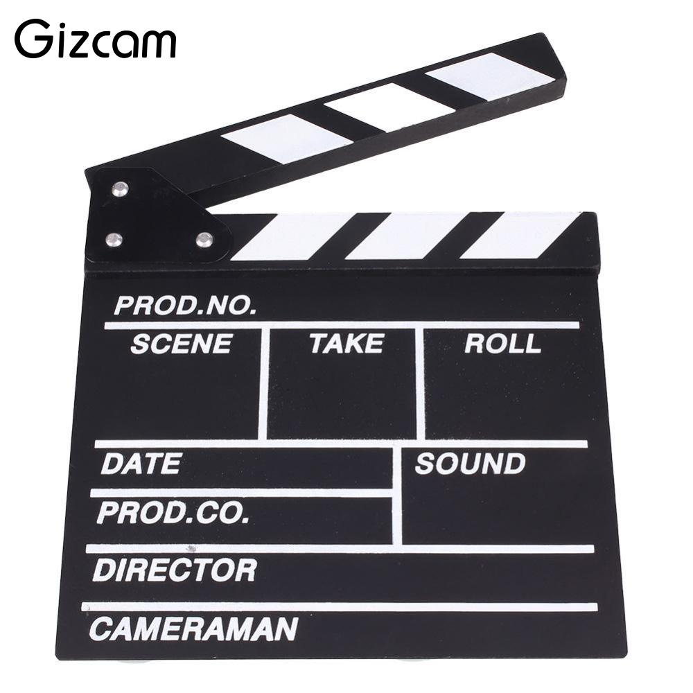 Gizcam Director Video Scene Clapperboard TV Movie Clapper Board Film Slate Cut Prop Wedding Party Funny Photo Tools