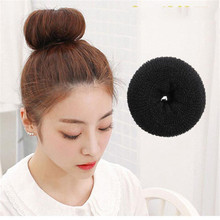 4 Sizes Hair Styling Ring Style Dispenser Buns Head Tool Hair Ring Elastic Hair Bands Headwear(China)
