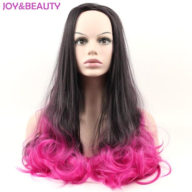 Glädje och skönhet hårkvinnors långa vågiga 3/4 perg höga - Syntetiskt hår