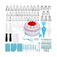 Cake Decorating Supplies Kit,170 PCS Baking Supplies Set with Icing Piping Tips & Russian Nozzles with Pattern Chart, Rotating