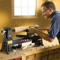 Высокое качество бытовой маленький токарный станок Будда бисер машина деревянная чаша обработки деревообрабатывающий станок 220 В 550 Вт
