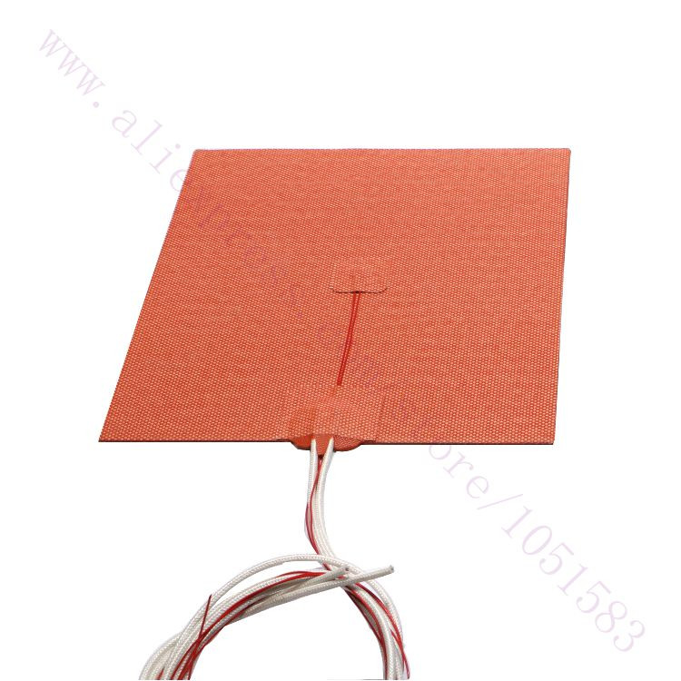 USA Material 300X300mm Cube Silicone Heater 750W 220V 110V Heated Bed Build Plate for 3D Printer