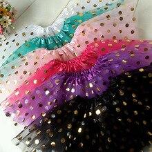 08efeb89ec 2016 new baby girls gold polka dot tutu skirt ballet dance tutu pettiskirt