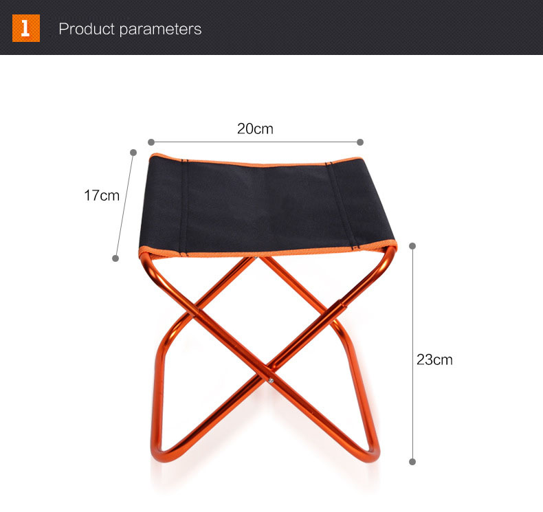 Magic Union Ultralight Outdoor Camping Fishing Pony Folding Stool Portable Waterproof Oxford Bench Picnic Bbq Garden Chair Attractive Designs; Beach Chairs