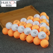 Huieson 50Pcs/Pack ABS Plastic Table Tennis Balls 40+ New Material Ping Pong Balls Table Tennis Accessories