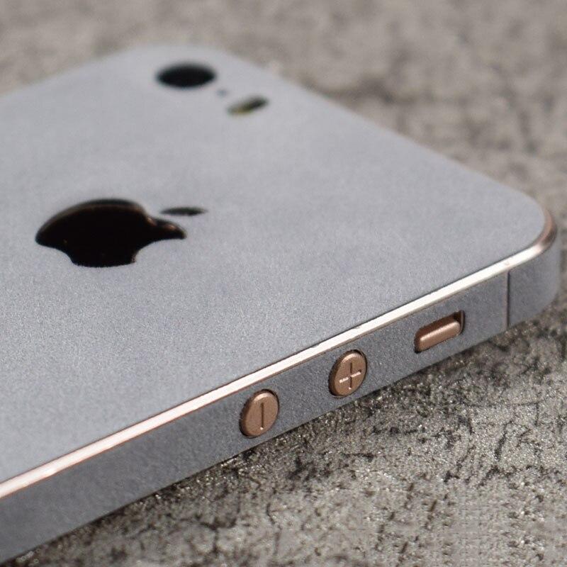 11 Colors Villus Surface Back Film For Apple iPhone 5s SE 5 Phone Decorative Pro