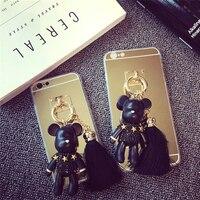 Karikatür Telefon Kılıfı Için iPhone 5 S 6 6 P Silika Jel iPhone 7 7 S Arka kapak tipi Kasvetli Bear Kapak Kabuk S-009