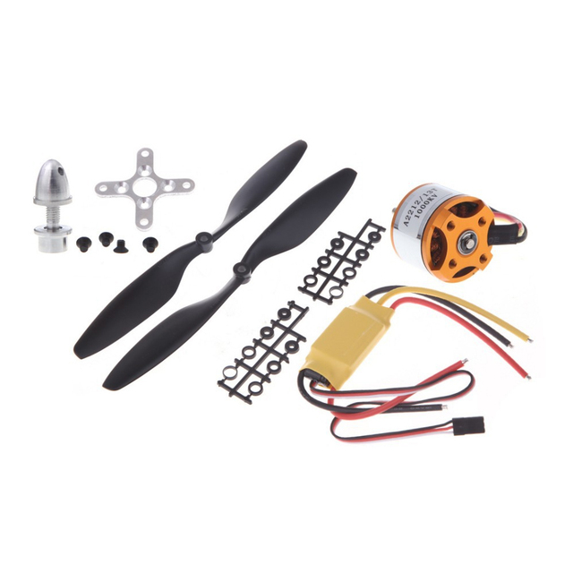 A2212 1000KV Brushless Outrunner Motor+30A ESC+1045 Propeller(1 pair) Quad-Rotor Set for RC Aircraft Multicopter
