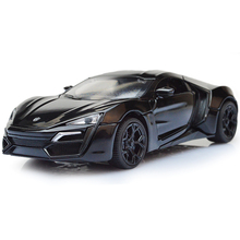 Mini 1:32 Scale Alloy Lykan Hypersport Car 4 color Fast & Furious 7 Diecast  Model Pull Back Cars with light&sound Kids Toys