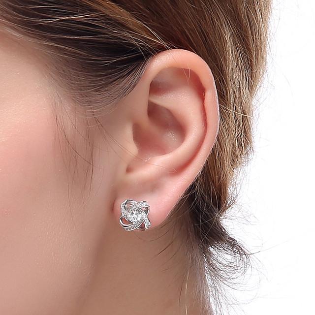 Genuine Sterling-silver-jewelry Earrings