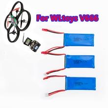 3pcs Li-po WLtoys V666 2S 7.4V 1200mAh Battery For WLtoys Quadcopter Drone V666 V262 V353 V333 V323 RC Helicopter Part X101 MJX