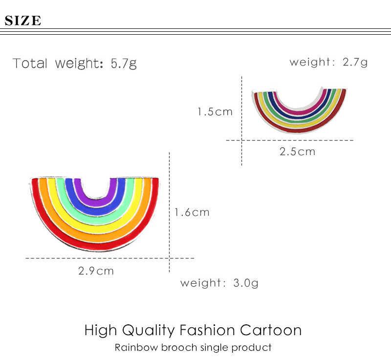 Fashion Kleurrijke Enamel Pin Broches Voor Vrouwen Cartoon Creatieve Mini Rainbow Metal Broche Pins Denim Hoed Badge Kraag Sieraden