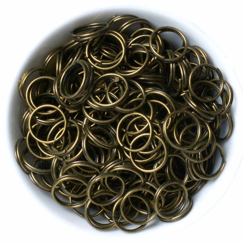 200pcs/lot 4/5/6/8/10mm Bronze Gold Silver Color Double Jump Rings &Split Ring for Jewelry Making Finding DIY Craft Accessory
