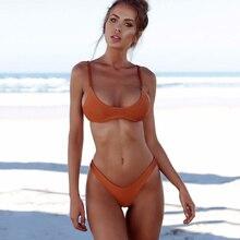 Plus Size Push up Thong Brazilian Bikini Set