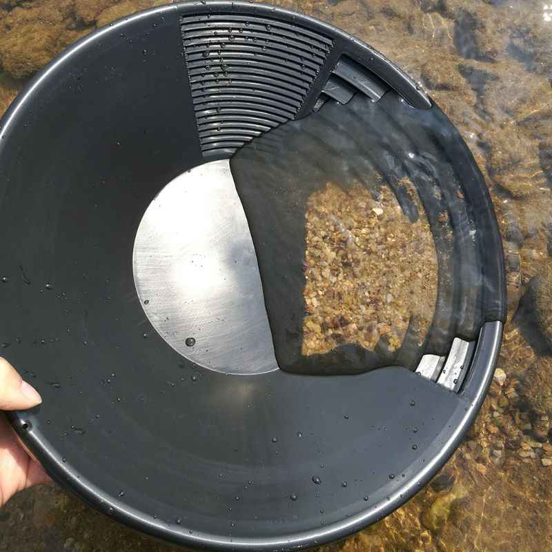 Plastic Gold Basin Nugget Mining Pan Dual Riffle Dredging Prospecting River Tool