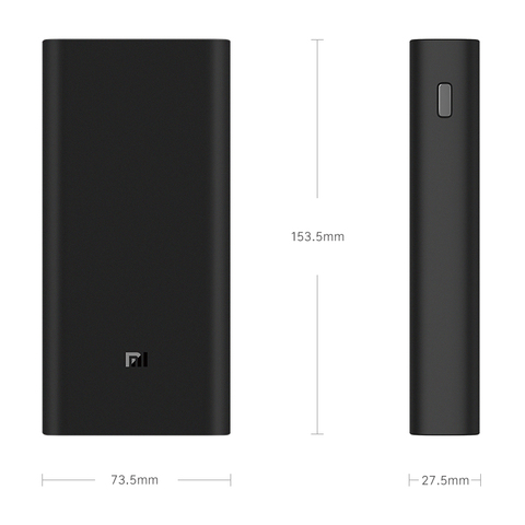 2019 NEW Xiaomi Power Bank 3 20000mAh Mi Powerbank USB-C 45W Portable Charger Dual USB Powerbank for Laptop Smart phone Lahore