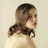 Bridal Flower Hairwear Accessory Ladies Wedding Accessories Womens Gold Floral Hair Bands Female Headbans O815