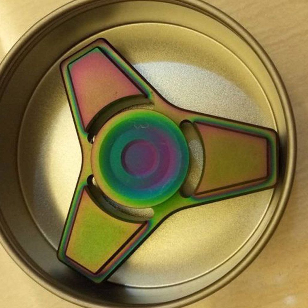 1 PC EDC Toys Professional Tri Spinner Fidget Toy Pattern Hand Spinner Torqbar Fidget Spinner and