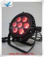 Factory Sale Waterproof Ip65 7x10w Slim Par Can Pro Stage Lighting Flat Par Led 7pcs Par