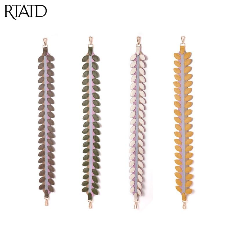 RTATD New Women Genuine Leather Bag Strap Fashion Lady Shoulder Strap Trendy Handle For Bags Belts Q0244