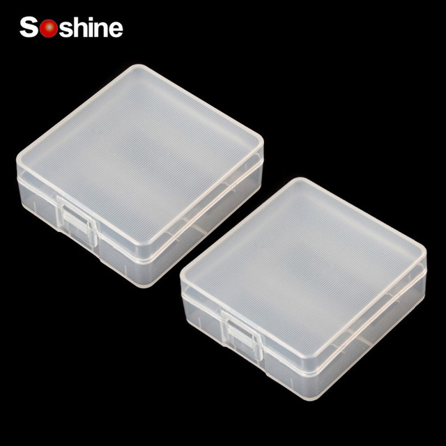 save off 71e7a b483b US $1.18 22% OFF|Soshine 2pc Transparent Plastic Battery Storage Box for  2pcs 9V Batteries Battery Container Battery Holder Case for Wholesale-in ...