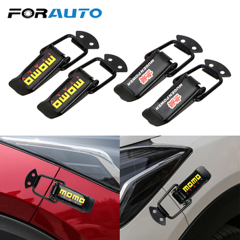 2 Pieces Car Bumper Security Hook Lock Clip Kit for Racing Quick Release Fasteners Car Truck Hood Clip Hasp Auto Accessories car modified trunk adjustable spring racing engine hood lock lock trunk lock tail box hook spring hook car styling accessories
