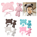1Set Newborn Baby Bear Hat Photography Props Crochet Beanie Photography Accessories