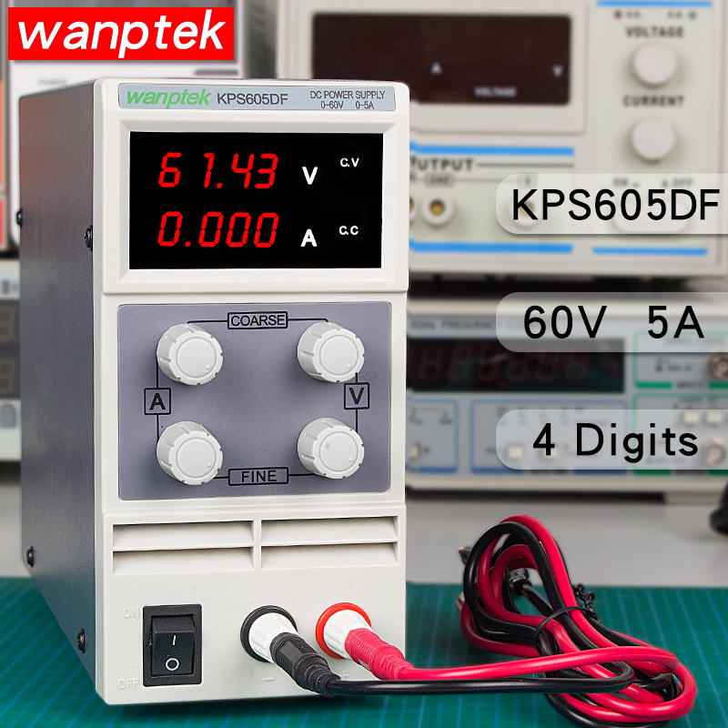 KPS605DF Mini Adjustable Digital DC Laboratory Switching Power Supply 0 60V 0 5A 0 01V 0
