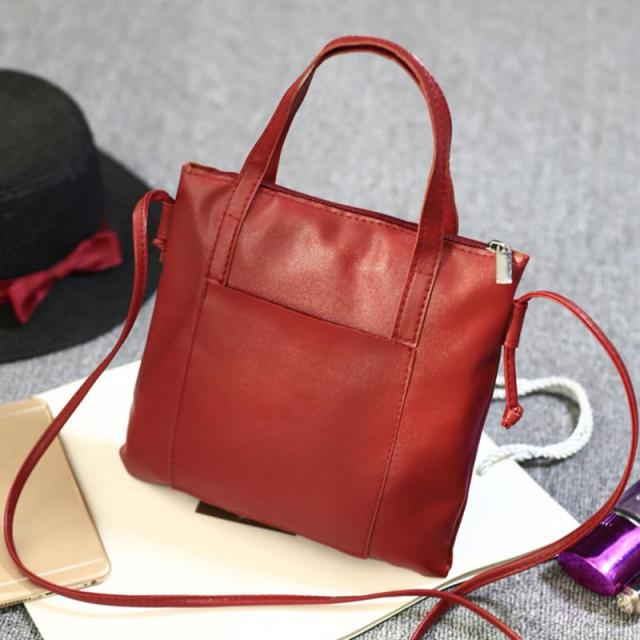 Soft PU Leather Handbags Crossbody Bags for Women 2018 Fashion Shoulder Bag Tote Bag Ladies Messenger Bag Bolsos Mujer Black Red 1