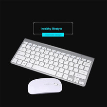 Reliable Ultra-thin mini keyboard suit 2.4 G wireless keyboard with 1600 DPI 2.4 G wireless mouse gaming mouse with battery