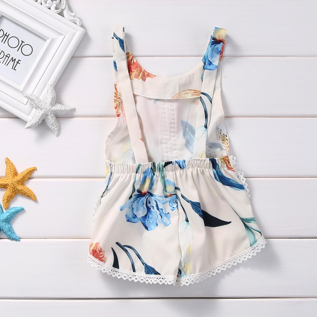 Cotton-Newborn-Kids-Baby-Girl-Sleveless-Lace-Romper-Lily-printing-Jumpsuit-Clothes-Sunsuit-Outfits-3