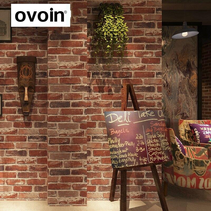 3D Vintage Brick Wallpaper For Restaurant Cafe Bar Background Walls Vinyl Retro Wall Paper Roll
