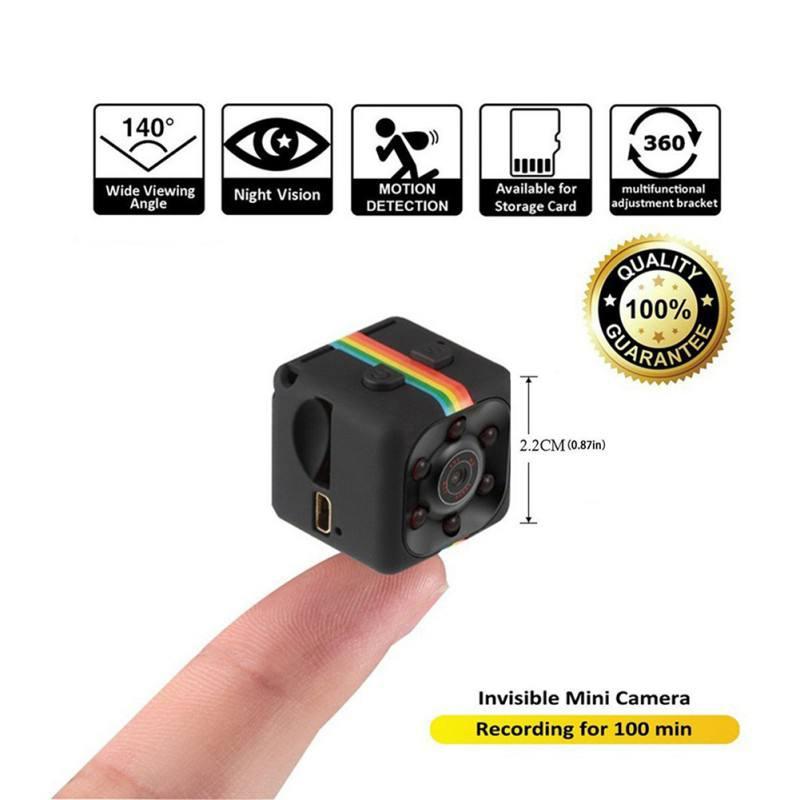 SQ11 Mini cámara 640*480 DV Micro deporte de la cámara del coche DVR de la visión en noche y con Video grabadora de voz Mini cámara de acción cámara Original
