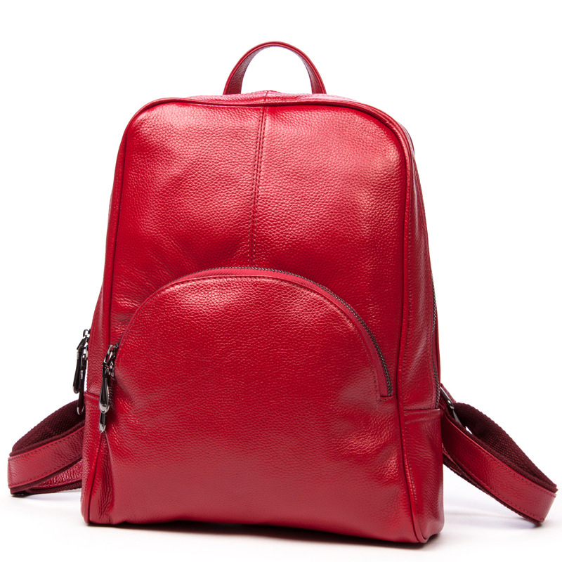 2016 New Real Cowhide Women Backpack Fashion Shopping Backpack Genuine Leather Bag Backpacks For Teenage Girls cowhide pack hot sale women s backpack the oil wax of cowhide leather backpack women casual gentlewoman small bags genuine leather school bag