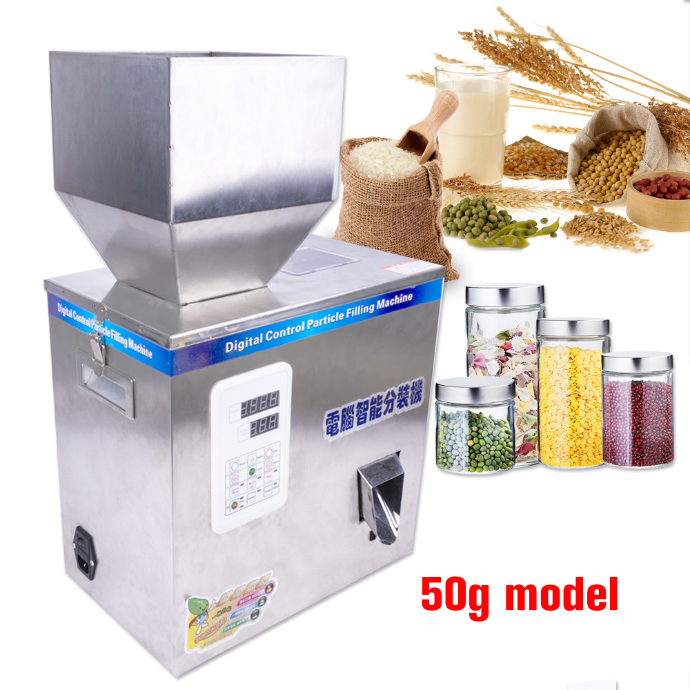 1-50g 200W Intelligent Filling Machine Tea Grain Weighing Machine Medicine Fruit Seed Filling Powder Filling Machine 110V 220V