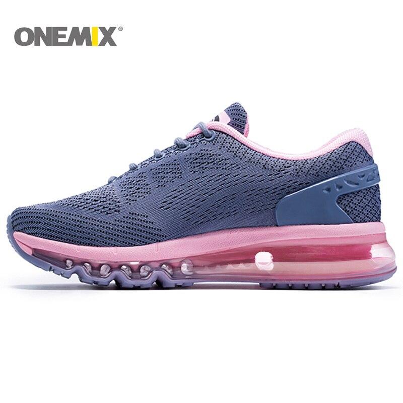 ONEMIX chaussures de course femmes coussin d'air et chaussures de sport respirantes baskets de plein Air et Jogging taille EU 36-40 1155