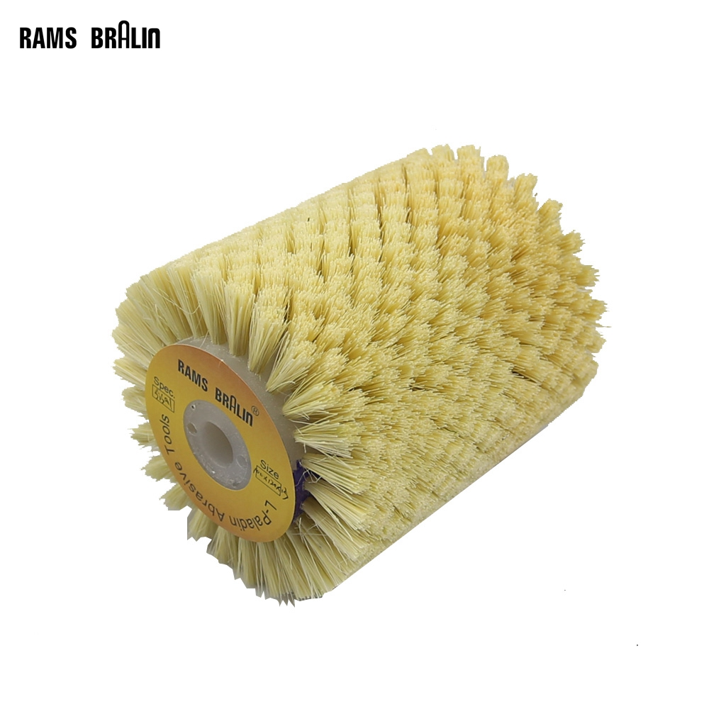 1 Pcs 100*120*13mm Tampico Sisal Polishing Wheel Brush For 9741 Wheel Sander Annatto Rosewood Carving Surface Finish