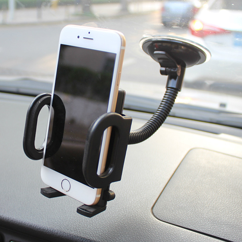 360 Rotate Car Phone Holder For IPhone X XS MAX XR Windshield Suction Car Mount Holder Phone Stand For Samsung S9 Suporte In Car