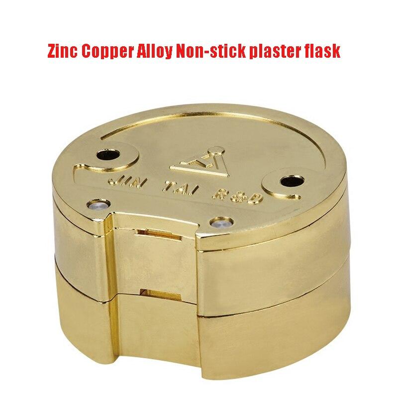 1 PC Dental Lab Zinc Copper Alloy FLASK Non-stick Plaster Denture Flask Press Compress Flask On Acrylic Partial Denture Work цена
