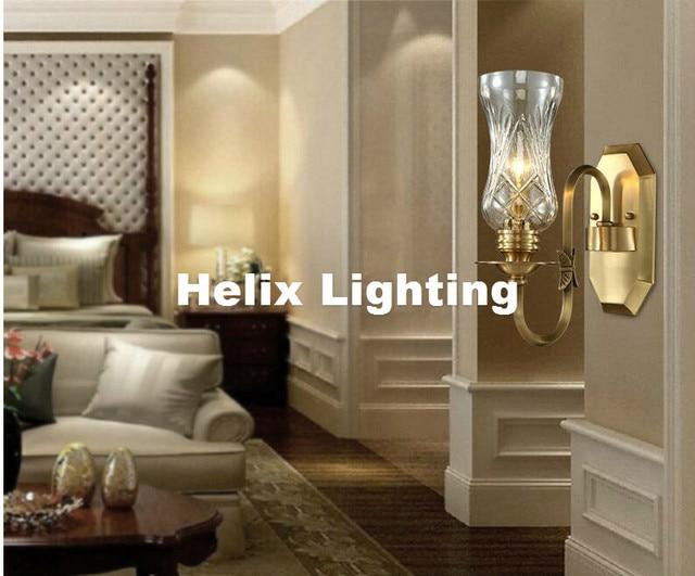 Slaapkamer Lamp Design : Gratis verzending europese retro messing lamp 110 v ~ 220 v