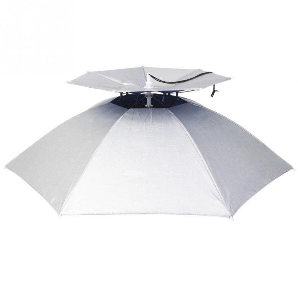 Extérieur Grand Double Couche De Pêche Parapluie Chapeau Cyclisme Randonnée Camping Plage Parasol Ensoleillé Rainy Anti-UV Cap Pour Hommes Femmes Enfants