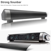 Fashion Strong Super Bass Sound Bar TV Wireless Bluetooth Speaker Home TV Theater Sound bar with Subwoofer(Black)