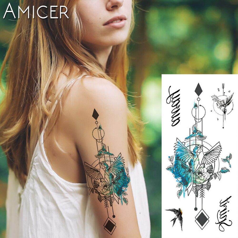 1 Piece Fantasy Color Freedom Bird Phoenix Hot Large Animal Temporary Tattoo Waterproof Tattoo Sticker For Women Men