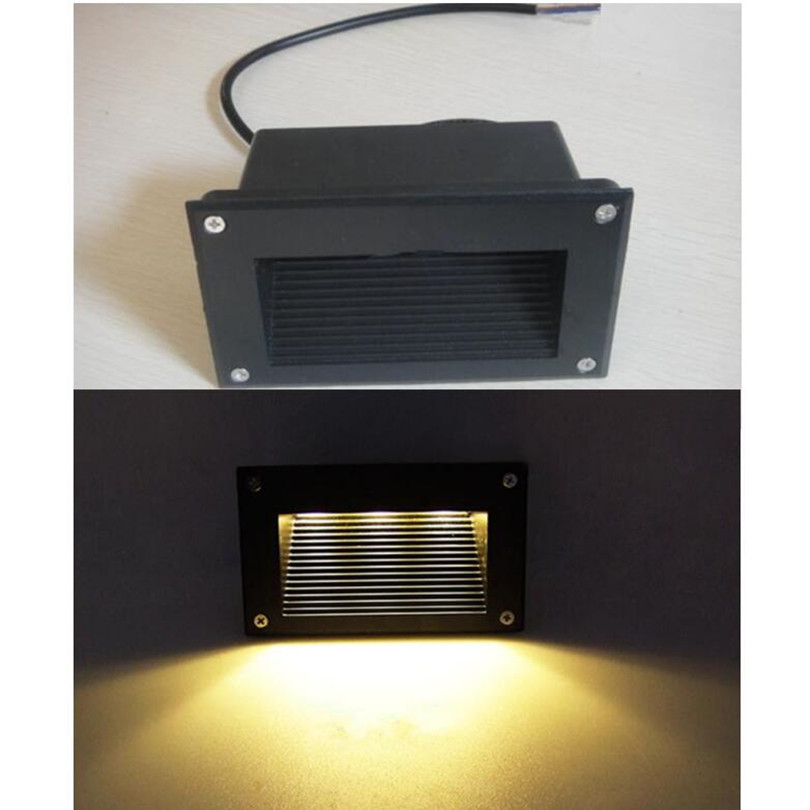 Basement Stair Ceiling Lighting: Led Wall Corner Lamp 3W LED Recessed Step Stair Light