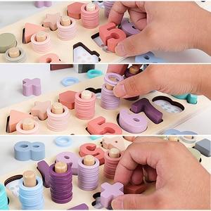 Image 4 - Préscolaire en bois Montessori jouets compter forme géométrique Cognition Match bébé éducation précoce aides pédagogiques jouets mathématiques pour les enfants