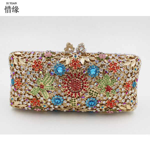 Для женщин Роскошные вечерняя сумочка; BS010 женские вечерние Клатчи мешок женский сцепления Свадебные кошельки золото/серый/синий/красный/черный