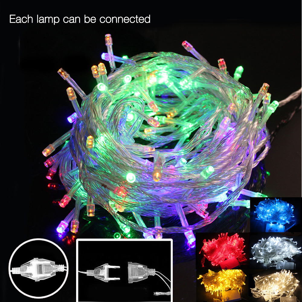 Colorful 10m 50 Led Holiday String Light Fairy Garland LED