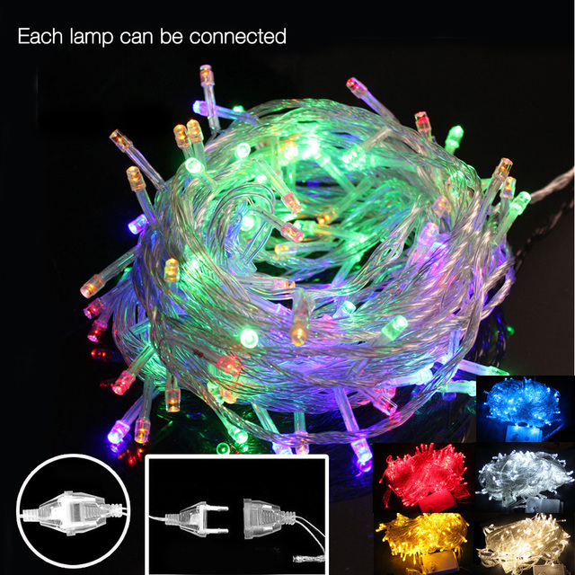 colorful 10m 50 led holiday string light fairy garland led christmas lights indoor outdoor party home