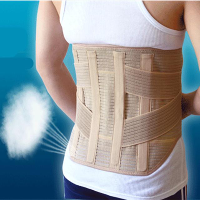 Ampliar de volta Cinto de Suporte Da Cintura Terapia Magnética Apoio Lombar Brace Respirável Malha de Aço Placa de Proteção Esporte Cintos 3 tamanho